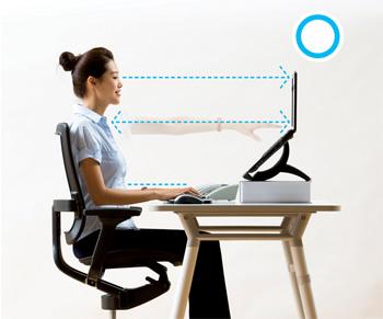 Laptop - correct position